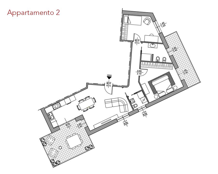 condominio-residenza-da-vinci-verona-appartamento-2-pianta-arredata-edilpasquali