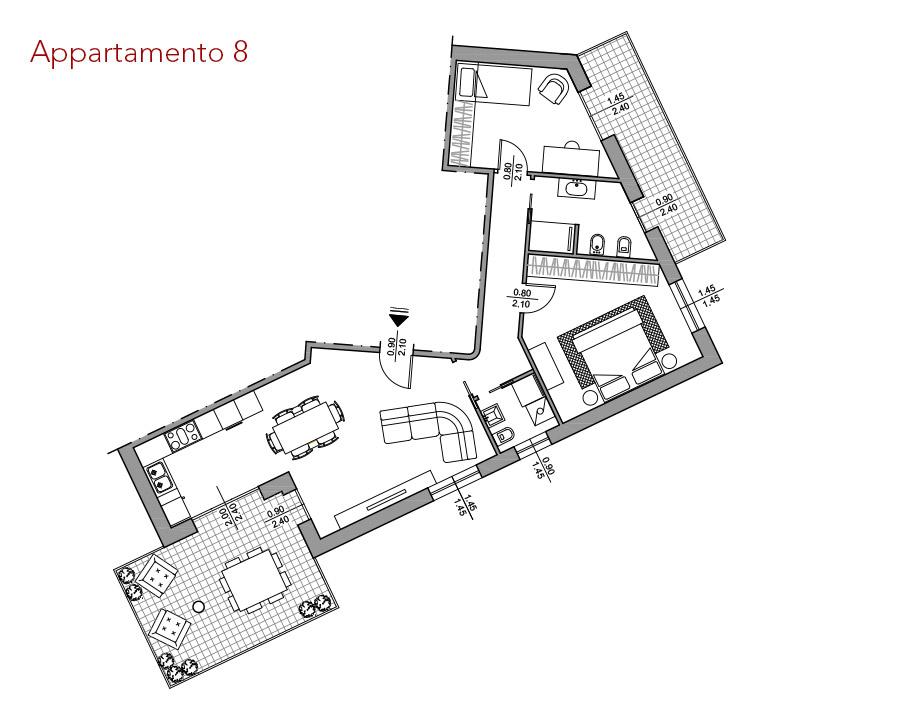 condominio-residenza-da-vinci-verona-appartamento-8-pianta-arredata-edilpasquali