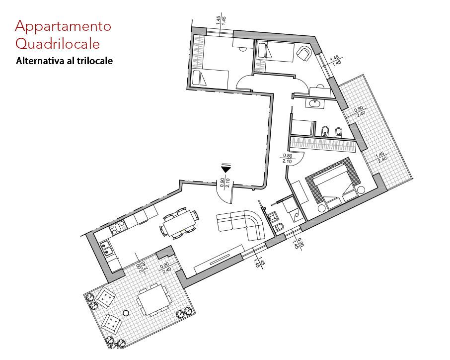 condominio-residenza-da-vinci-verona-appartamento-quadrilocale-pianta-arredata-edilpasquali